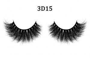 3D Mink Lashes 3D15 Most fashionable 3D style mink fur false eyelash for makeup Made of 100% mink fur, vivid and shiny and long lifespan Each pair of our 3D lashes are hand-made by our workers Easy to install, hypoallergenic, do not harm your eyes, totally cruelty-free