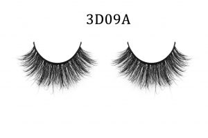 3D Mink Lashes 3D09A Most fashionable 3D style mink fur false eyelash for makeup Made of 100% mink fur, vivid and shiny and long lifespan Each pair of our 3D lashes are hand-made by our workers Easy to install, hypoallergenic, do not harm your eyes, totally cruelty-free