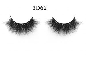 3D Mink Lashes 3D62 【100% Real Mink Hair】Made of 100% mink hair,vivid glamorous and shiny.You will look like a doll or an alluring women depends on your personality by wearing these mink eyelashes 【Cruelty-free Mink Hair】These fine fibers come from the tails of artificial breeding minks' natural falling hair and are sanitized and dyed before they're packaged as easy-to-install eyelashes 【More Comfortable】Real mink eyelash feels more comfortable than any brand of synthetic lashes.They are soft & smooth,natural curved 【Easier to USE】Easy To Install with thick flexible band,hypoallergenic,no harm to your eyes,can be reused more than 15 times with proper care.Use eyelash adhesive on the band,then install the eyelashes to your own human lashes