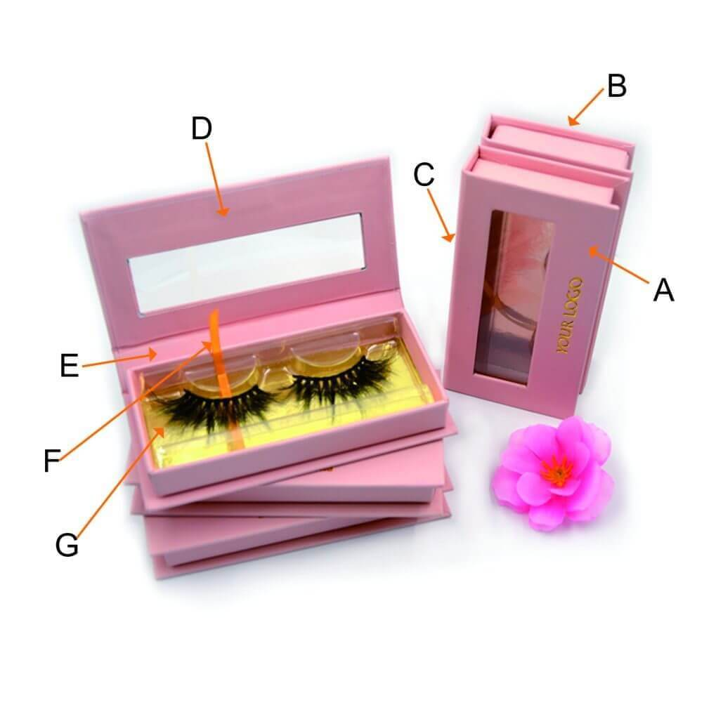 The Destination Mink Lashes Factory to provide you unique long mink lashes.  This is the lash box with window.  We are all available serve for you .
