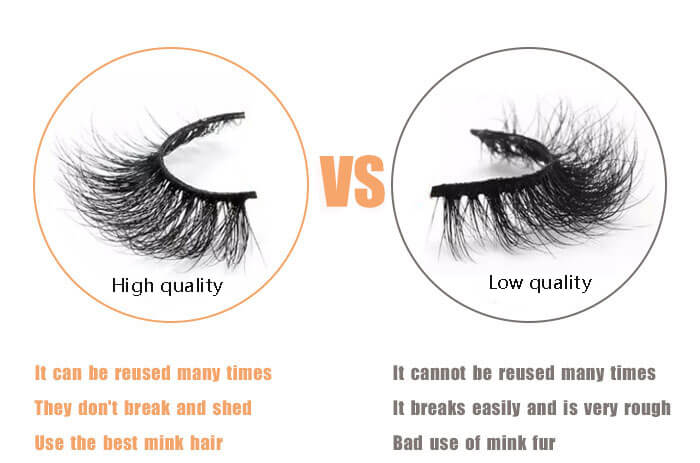 separate the quality of lashes