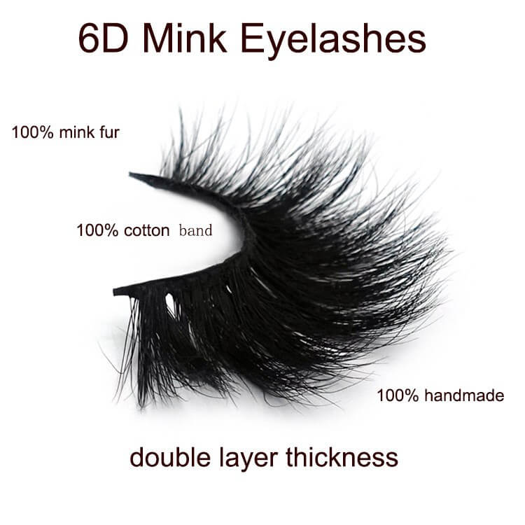 Double layer lashes - 6D mink lashes