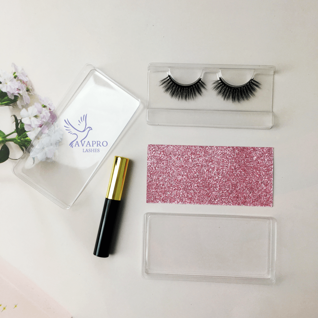 magnetic eyelashes with gel liner simple and practical packaging